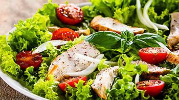 Les salades du restaurant le beau soleil